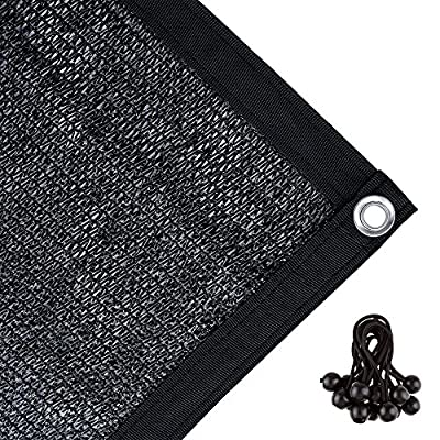 Agfabric 70% Sunblock Shade Cloth with Grommets 10ft Black ??