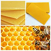 Janolia 30 Pcs Honeycomb Bee Wax Foundation, Beehive Wax Frames Base Sheets, for Beekeeping Apiculture Bee Culture
