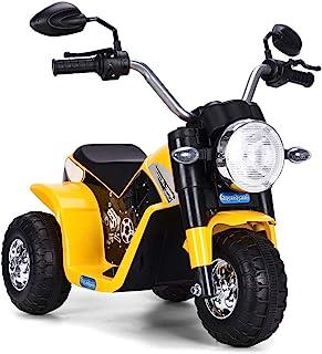 GOPLUS Moto Electrique pour Enfants 6V 4,5Ah, Moto à Batteries 3 Roues, Véhicule Electrique pour Enfant 36-95 Mois, Vitess...