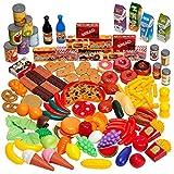 THE TWIDDLERS 150-teiliges Lebensmittelspielzeug Kinderküchenzubehör - 100% BPA-Frei