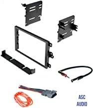ASC Audio Car Stereo Dash Kit, Wire Harness, and Antenna Adapter to Add a Double Din Radio for some Buick Chevrolet GMC Hummer Isuzu Oldsmobile Pontiac