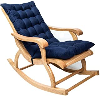 Sun Lounger Cushion, Garden Rocking Chair Cushion Thicken Sunlounger Chair Cushions with Backrest Ties Folding Furniture R...