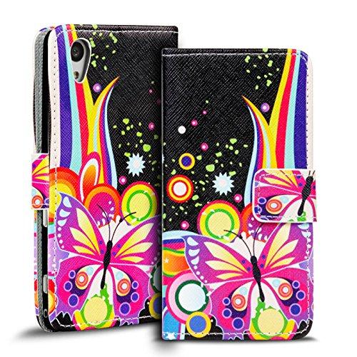 Verco Handyhülle Xperia Z1 Muster, Motiv Hülle Sony Xperia Z1 Book Case Flip Cover - Design 1