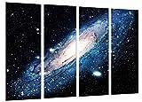Cuadro Fotográfico Galaxia en el Espacio, Estrellas Tamaño total: 131 x 62 cm XXL