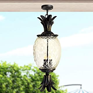 Mopoq Ceiling Lamp for Indoor and Outdoor, Water and Rain Resistant, Traditional European Porch Candle Holder Design, to H...