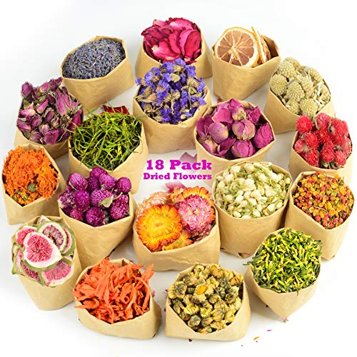 LAVEVE Dried Flowers, 18 Bags 100%...