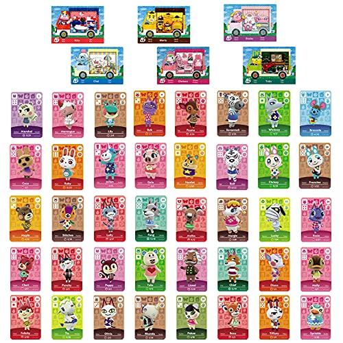 Juego de 46 tarjetas NFC para animales cruzados, Sanrio Ammibo compatibles con Switch/Lite/New 3DS