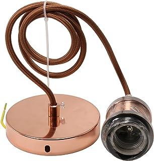 Suspension Luminaire E27 Ajustable 1 Mètre Cable Suspension Vintage Edison Douille Suspension Pour Suspension Ampoule Conv...