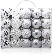 20 Piece Set Christmas Ball Christmas Ball Pendant Christmas Tree Pendant Silver White