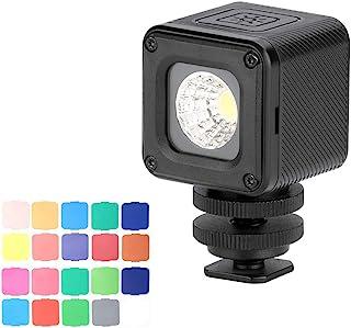 Ulanzi L1 Pro Vielseitiges wasserdichtes dimmbares Mini LED Videolicht 5500K mit Fülllicht CRI 95 und 20 Farbfiltern für die GoPro 7/6/5 für DJI Drones Osmo Pocket