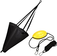 MOOCY 32-Inch Drift Sock Sea Anchor Drogue with 30ft Kayak Tow Rope Line Buoy Ball Float Leash Sea Brake System for Marine Boat/Yacht/Jet Ski/Inflatable/Power Boat/Sail Boat