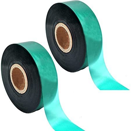 Bundle of 25 12 24 Natural Bamboo or 36 inches Stakes with 150 feet of 12 Inch vinyl stretch tape