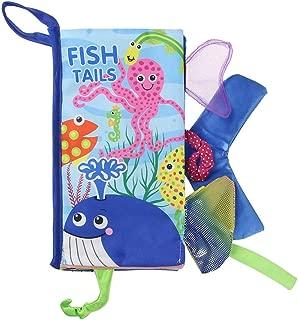 Jenilily 布えほん 赤ちゃん おもちゃ 尻尾付き 音の鳴る絵本 知育玩具 海洋シリーズ