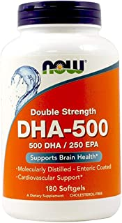 NOW Foods DHA-500 180 Softgels (2-Pack)