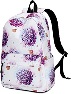 Romantic Fashion Teen Girl Schoolbag, Large Capacity Wide Shoulder Strap Comfortable Labor Saving Backpack, Junior High School Waterproof Polyester Backpack,A