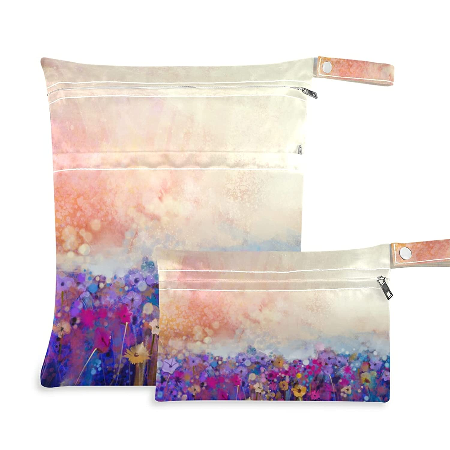 xigua Floral Watercolor Painting Bombing free shipping Wet 2 Dry Bag Popular brand Pieces Waterproo