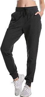 DAYOUNGWomen's Sweatpants Yoga Jogger Running Pants Lounge Loose Drawstring Waist with Zipper Pockets