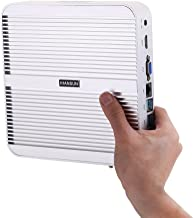 Fanless Mini PC,Desktop Computer,with Windows 10 Pro/Linux Ubuntu Support,Intel Core I3 4005U,(Silver),[HUNSN BM01],[VGA/HDMI/LAN/4USB3.0/2USB2.0/WiFi],(Barebone System)