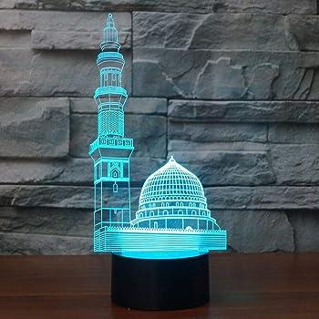 3d Muslime Allah Islam Optische Illusions Lampen Tolle 7 Farbwechsel Acryl Beruhren Tabelle Schreibtisch Nachtlicht Mit Usb Kabel Fur Kinder Schlafzimmer Geburtstagsgeschenke Geschenk Amazon De Beleuchtung