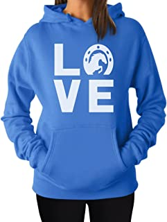 Tstars - Animal Lover Rearing Horse - Love Horses - Horseshoe Women Hoodie