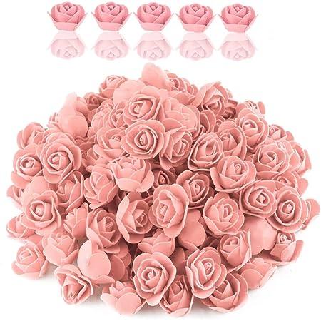 SimpleLife 144 Piece//Pack 2cm Foam Rose Heads Artificial Flowers Wedding Bride Bouquet Party Baby Shower Home Decor DIY