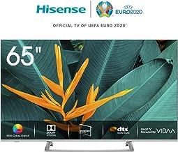 Hisense H65BE7400 - Smart TV ULED 65' 4K Ultra HD, 3 HDMI, 2 USB, salida óptica, Wifi, Bluetooth, Dolby Vision HDR, Wide Color Gamut,Audio DTS, Procesador Quad Core, Smart TV VIDAA U 3.0 con IA
