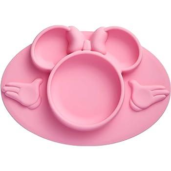 The First Years - Mantel individual de silicona con diseño de Mickey Mouse, Rosado, 1-Piece
