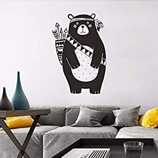Wall Stickers & Murals Bestsellers Back Arrow Bear Bedroom Interior Home Decor Living Room Wall PVC Sticker 37x55cm