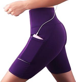 1558abcfb8 Shorts de Sport, Femme Pantalon Yoga Poche latérale, Legging Court,Taille  Haute Legging
