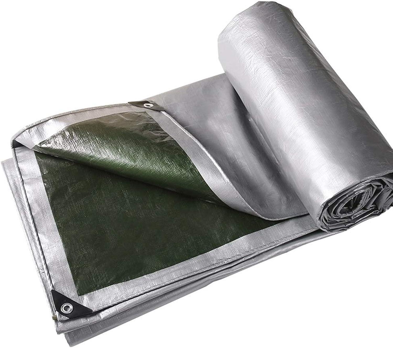 Zeltplanen Im Freien regendichte Plane, Kann faltbares Isolierungs-Plastikabdeckung-Tuch kampierendes kampierendes kampierendes placemat mehrfache Größen Silber und Grün B07H3VL1L1  Sonderangebot ba967a