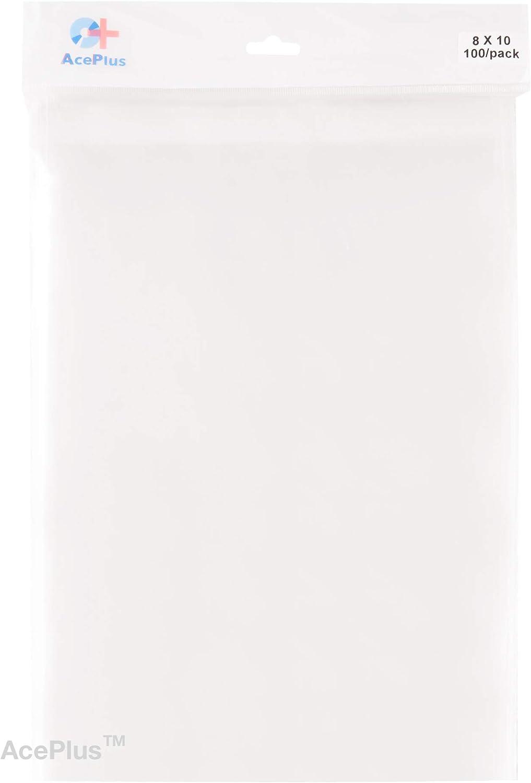 AcePlus 100 Peel Seal Resealable Clear Bags 8