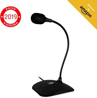 ??KLIM Talk - USB Desk Microphone for Computer - Compatible with any PC, Laptop, Mac, PS4 - Professional Desktop Mic with Stand - Recording, Gaming, Streaming, YouTube, Podcast Mics, Studio Microfono