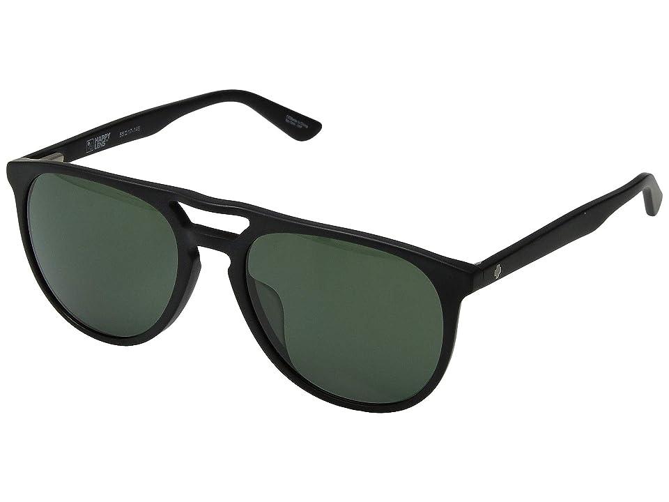 Spy Optic Syndicate (Matte Black/Happy Gray Green) Athletic Performance Sport Sunglasses