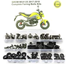 Xitomer Full Sets Fairing Bolts Kits, for HONDA GROM MSX125 2017 2018, Mounting Kits Washers/Nuts/Fastenings/Clips/Grommets (titanium)