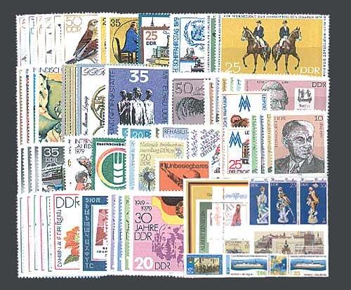 Goldhahn DDR Jahrgang 1979 postfrisch komplett Briefmarken für Sammler