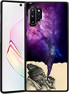 Smoking Old Man Galaxy Note 10+ 5G (6.8-Inch) Tire Edge Cover Case