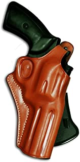 Premium Leather OWB Revolver Paddle Holster with Thumb Break Fits, Ruger GP-100 4''BBL, Brown Color #1033#