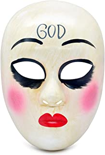 HOMELEX The Purge Anarchy Horror Killer GOD Mask Halloween Party James Sandin Masks Props Movie Costume Haunted