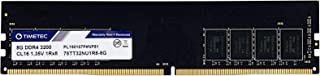 Timetec Extreme Performance Hynix IC 8GB DDR4 3200MHz PC4 25600 CL16 1.35V Unbuffered Non ECC Single Rank Designed for Gaming and High Performance Compatible with AMD and Intel Desktop Memory (8GB)