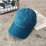 mlpnko Gorra de béisbol Salvaje Vieja Gorras curvadas de Mezclilla lavadas Hombres y Mujeres Gente de la Calle Sombrero de Hip Hop Lago Azul Ajustable