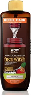 WOW Skin Science Apple Cider Vinegar Foaming Face Wash Refill Pack - with Organic Certified Himalayan Apple Cider Vinegar...