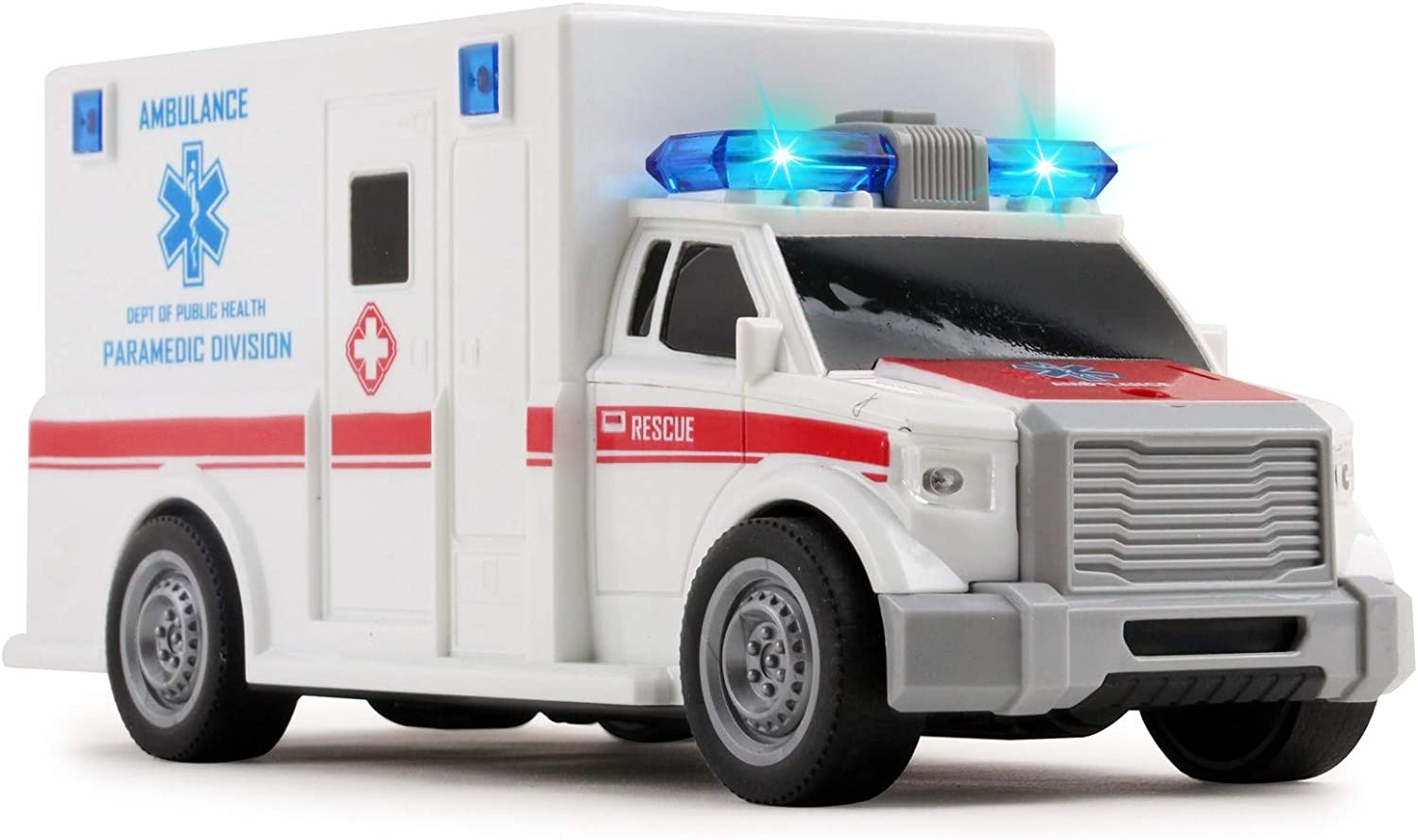 Vokodo Rescue Ambulance Friction Powered with Car Scale Toy Max 56% OFF 1:20 Limited time trial price
