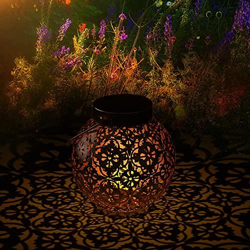 SOAIY - 2 PCS Lámpara de linterna con diseño de mariposa, luz de linterna solar IP44 impermeable para exteriores, jardín, casas de interior, patio, entrada