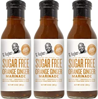 G Hughes Sugar Free Orange Ginger Marinade 13 oz (3 Pack)
