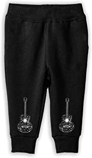 Guitar and Music Notes Sweatpants, Baby Girls' Sport Jogging Pants