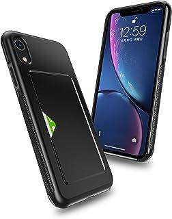 Hokonui iPhone XR ケース 6.1インチ 2018最新版 ICカード収納 軽量 耐衝撃 全面保護 落下防止 アイフォンXケース 三重構造 6.1インチ カメラ保護 携帯カバー (iPhoneXR-黒)