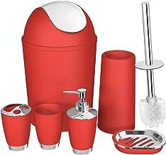 Amazon Com Red Bathroom Accessories