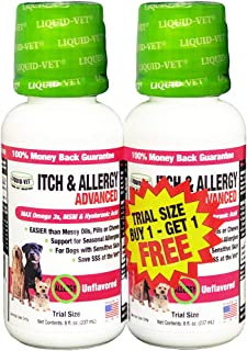 Sponsored Ad - Liquid-Vet Advanced Itch + Allergy Supplements for Dogs with Omega 3s + MSM + Hyaluronic Acid Skin + Coat S...