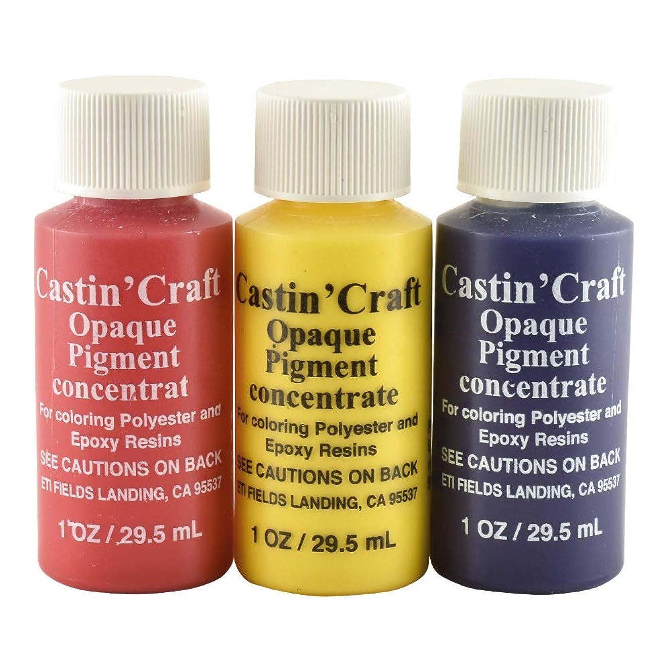 Castin' Craft 1 Oz Opaque Dye Primary Color Set