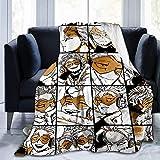 Wonghi My Hero Academia Collage Anime Bnha Hawks Manga Flanell-Überwurf, Decke, ultraweiche Tagesdecke, Mikrofaser-Fleece-Decke, langlebig, Heimdekoration, ideal für Couch, Sofa, Bett, 127 x 101 cm